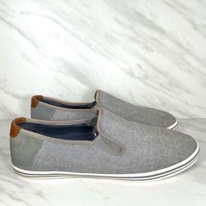 Aldo Mens Gray Canvas Slip On Loafers Sz 11